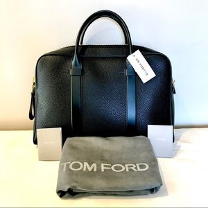 Tom Ford Men's Leather Document Bag Briefcase